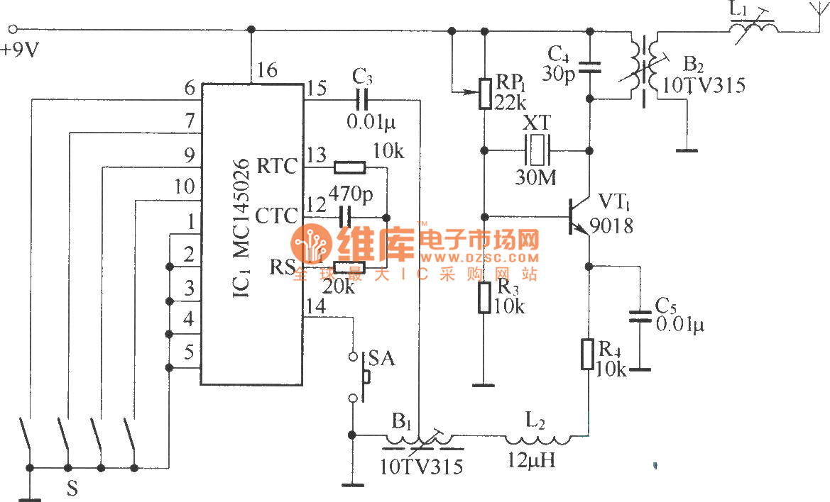 Multi Channel Remote Control Circuit Diagram Threetonegenerator Signalprocessing Seekic