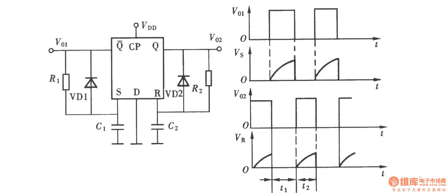 Monostable Flipflop Circuit 555circuit Diagram Seekic Data Circuitdiagram Measuringandtestcircuit 3vwaterleveldetector The Multivibrator Composed Of D Flip Flop Oscillator
