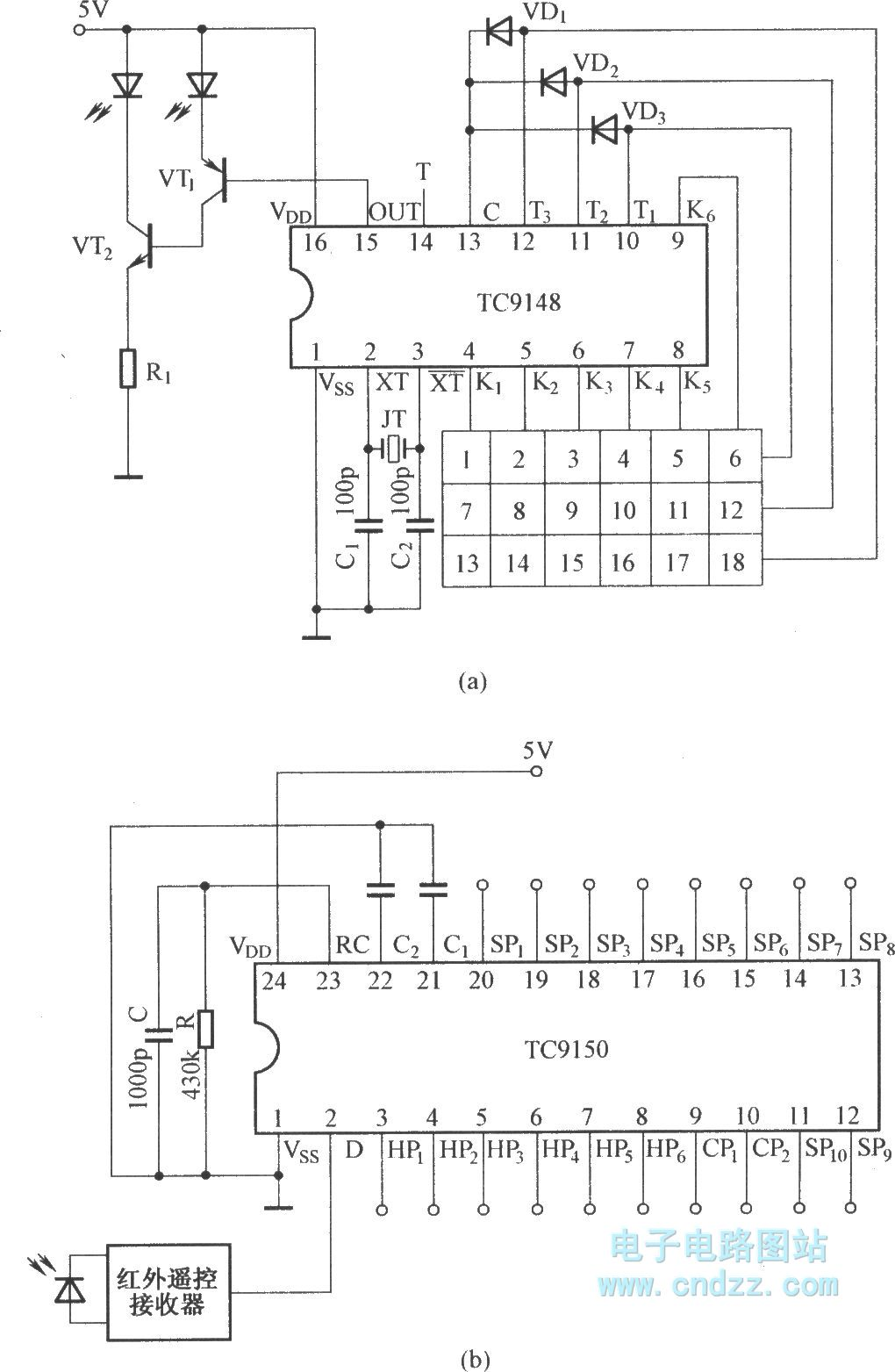 18 Way Infrared Remote Control System Circuit Diagram Wwwseekiccom Circuitdiagram Powersupplycircuit Negativevoltage