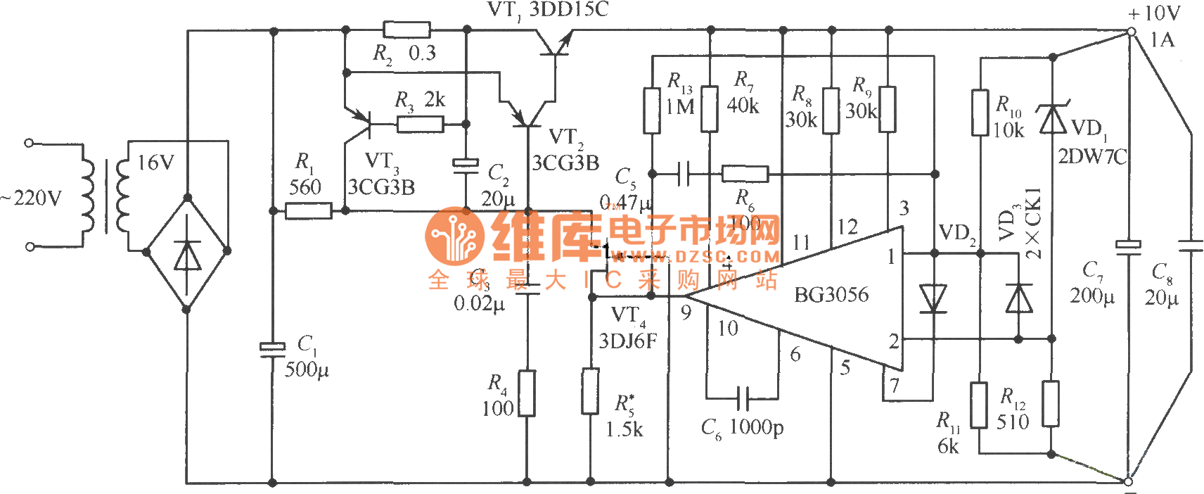 Power Pack Wiring Diagram 0 10v Reinvent Your 10vdc 1a Precision Regulated Supply Circuit Rh Seekic Com Pulse 4 20ma