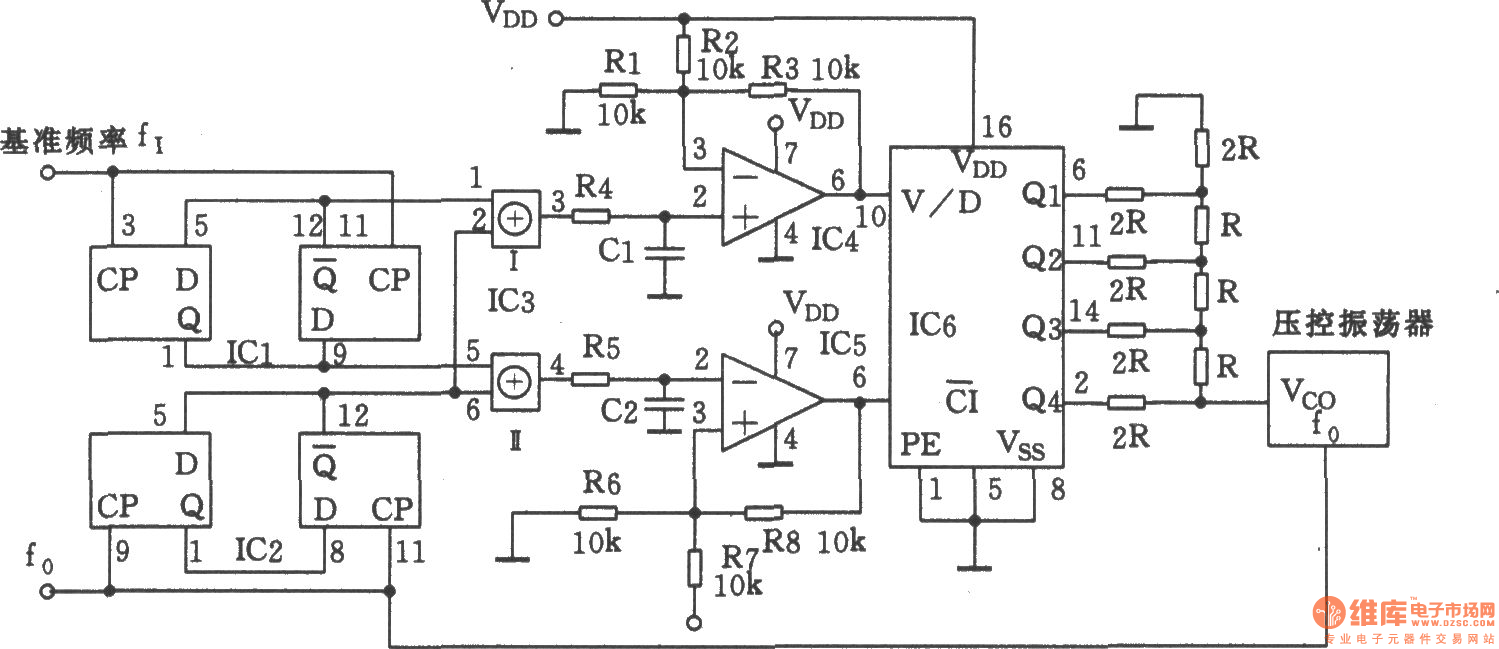 Rapid Synchronous Vco Oscillator Circuit Signal Processing Diagram