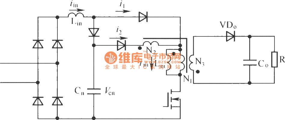 Flyback Single Stage Parallel Pfc Converter Circuit