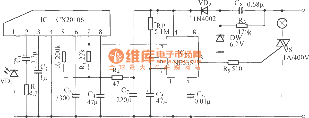20114124288734 infrared remote control delay light switch circuit diagram 6 PC LED Switch Wiring Diagram at n-0.co