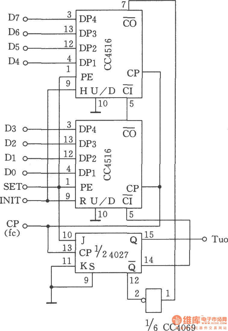 pulse width controllable pulse generator composed of