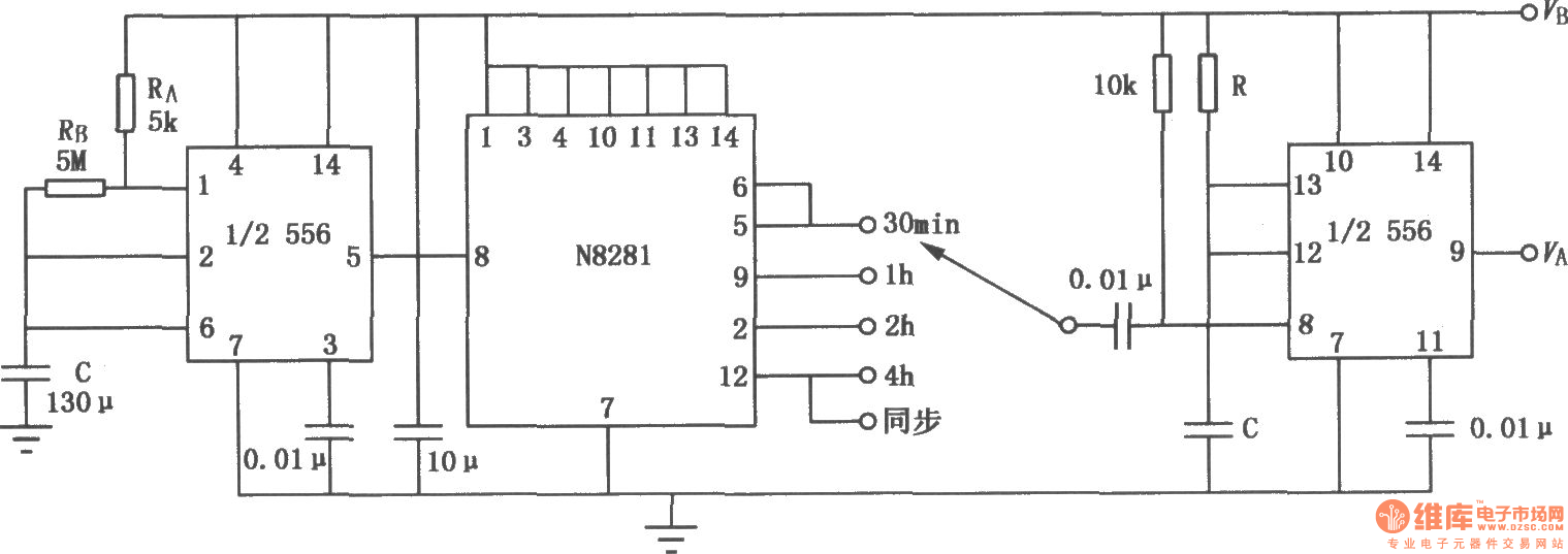 4h Timing Circuit Composed Of 556 Time Control Basictriacswitches Controlcircuit Diagram Seekiccom