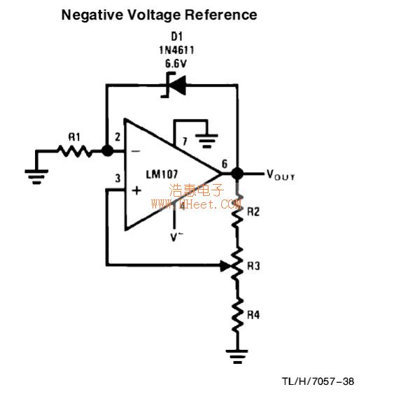 negative voltage reference circuit basic_circuit circuit diagram  negative voltage reference circuit