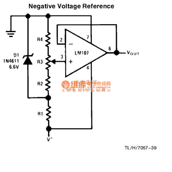 negative voltage reference circuit 2 basic_circuit circuit  negative voltage reference circuit 2