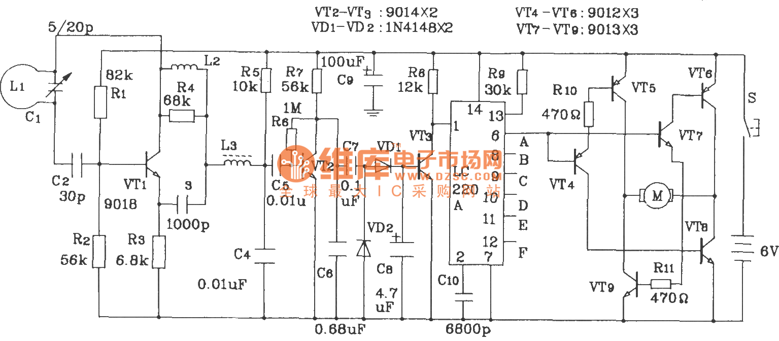 Composed Of Lc219 220a Toy Cars Radio Remote Control Transmitter And Rf Receiver Circuit Diagram Application