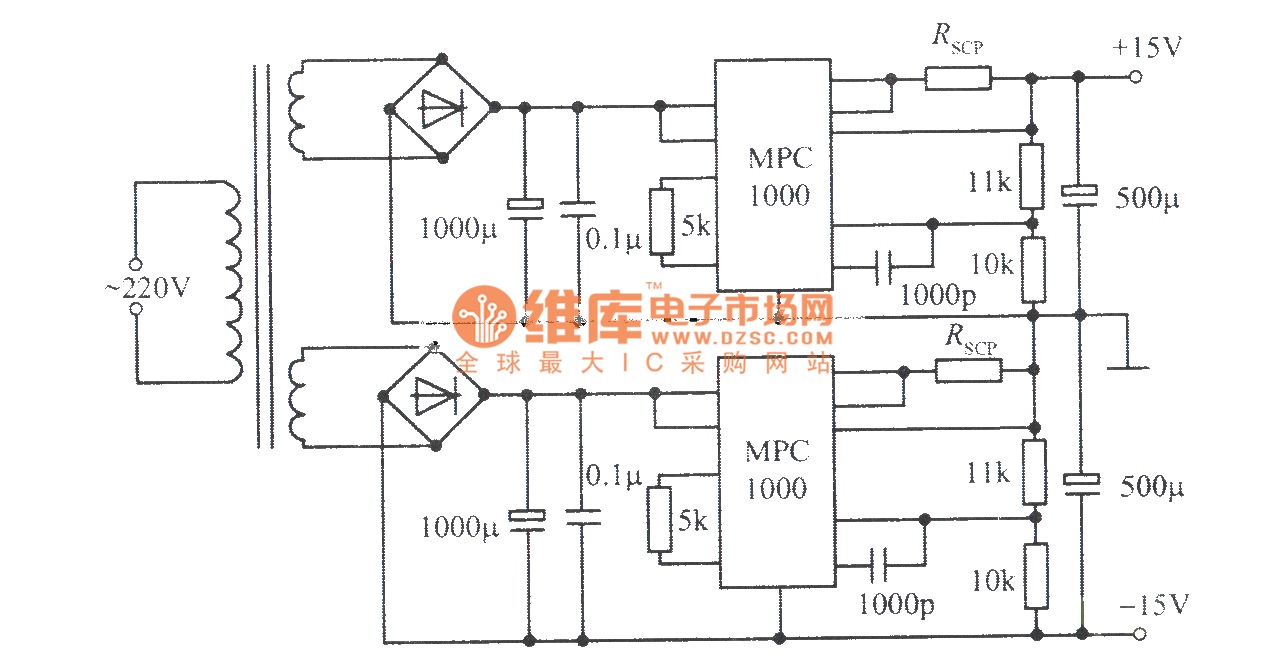 15v 10a Symmetric Regulated Power Supply Composed Of