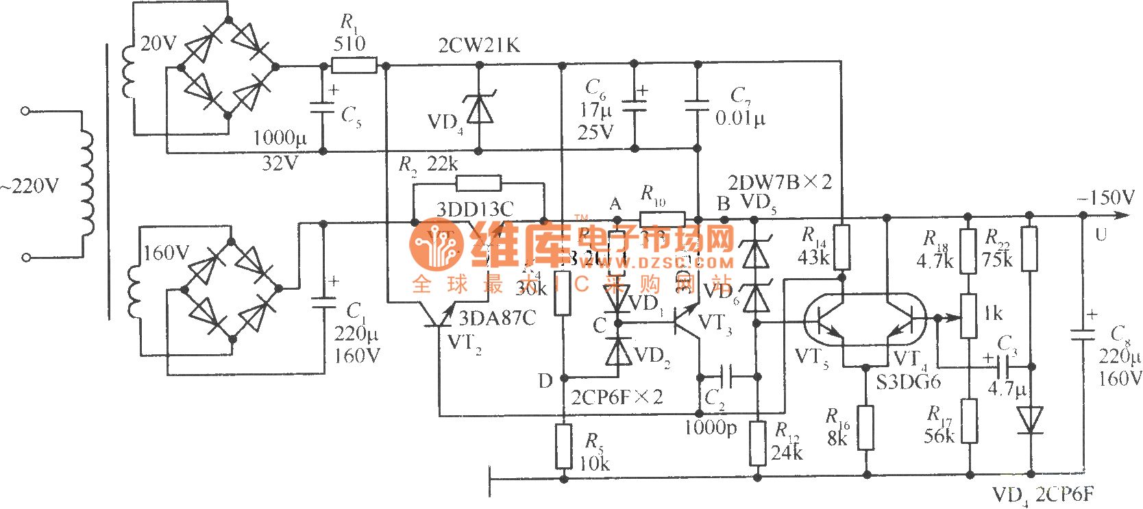 120v Stabilized Voltage Supply Circuit Powersupplycircuit