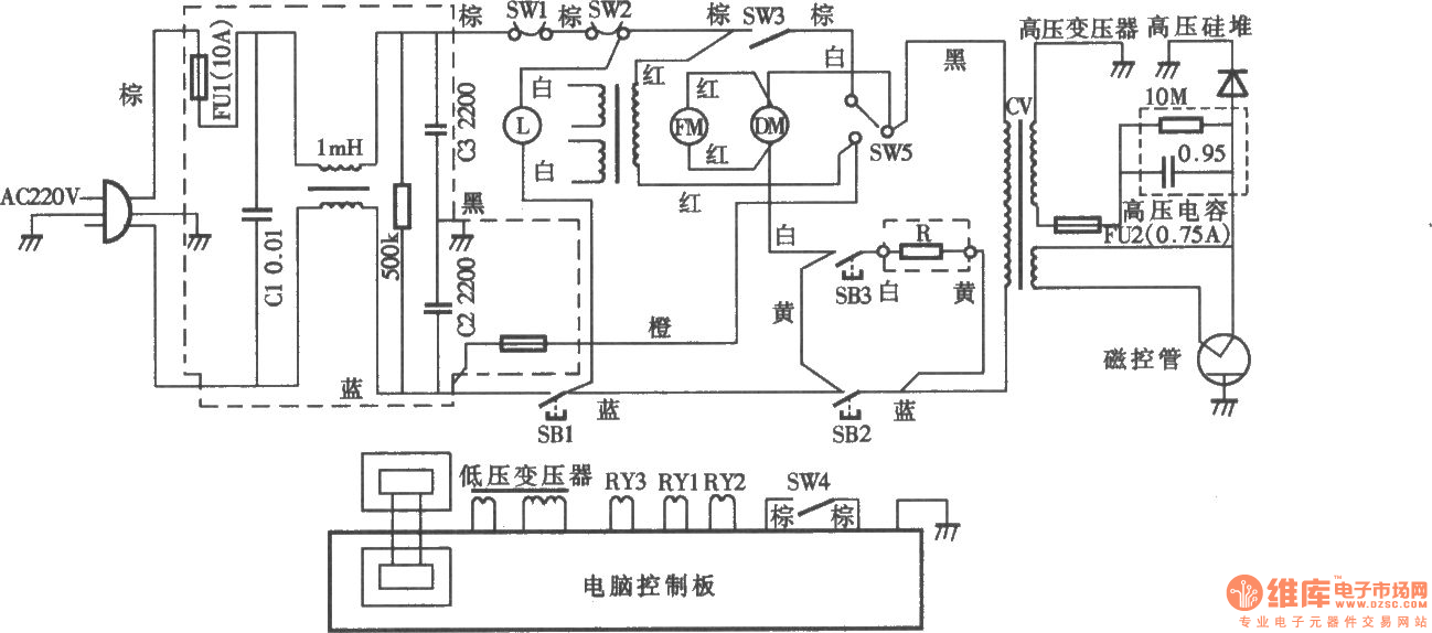 Fushibao induction cooker circuit moreover Automatic Emergency Light besides Fuel Filter Element 1 also Rongsheng insulation automatic electric cooker circuit diagram also Basic Electrical Wiring Diagram. on basic light wiring diagrams