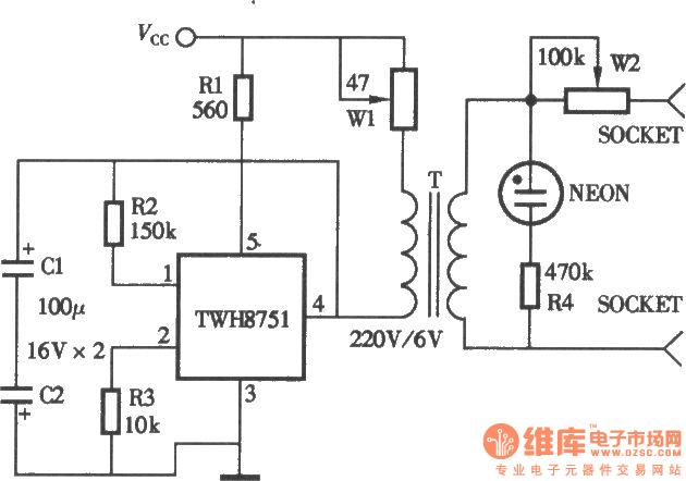 homemade household physiatrics instrument circuit