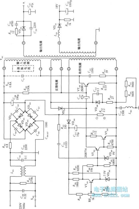 high voltage switching stabilized voltage supply circuit - power supply circuit