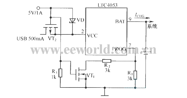 Usb Power Supply Wiring Diagram : Charger schematic diagram of usb interface and supplyed to