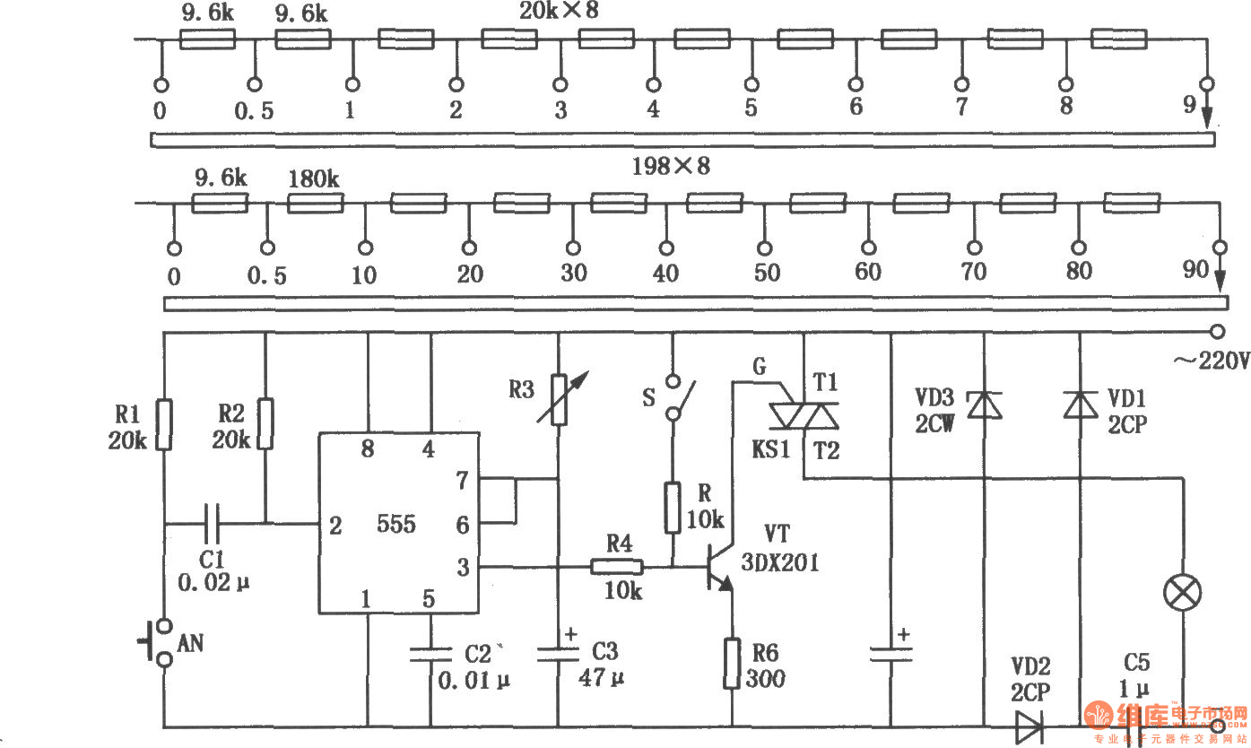 Non Contact Darkroom Timer Composed Of 555 Circuit Diagram