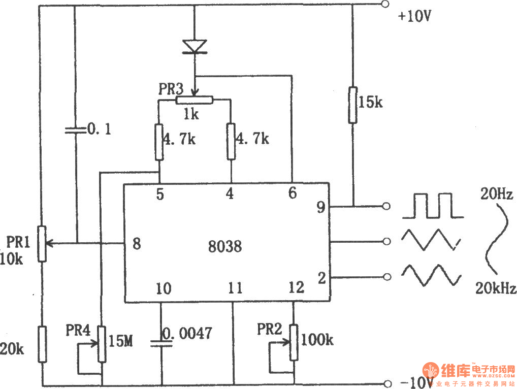 The function generator using 8038 - Function_Signal_Generator ...