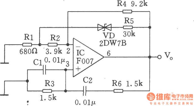 wien bridge sine-wave generator - oscillator circuit - signal processing