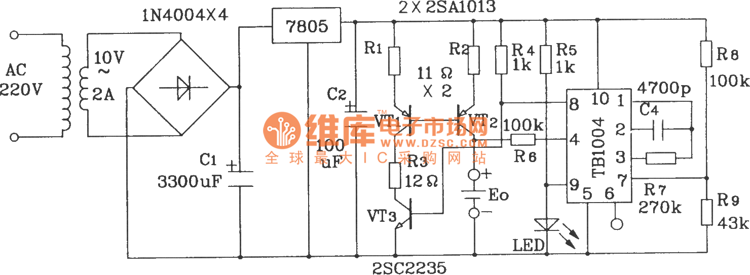 Ni Cd Battery Charge Circuit Composed Of Tb1004 Control Charger Http Www Seekic Com Diagram Basic Pictures Integrated