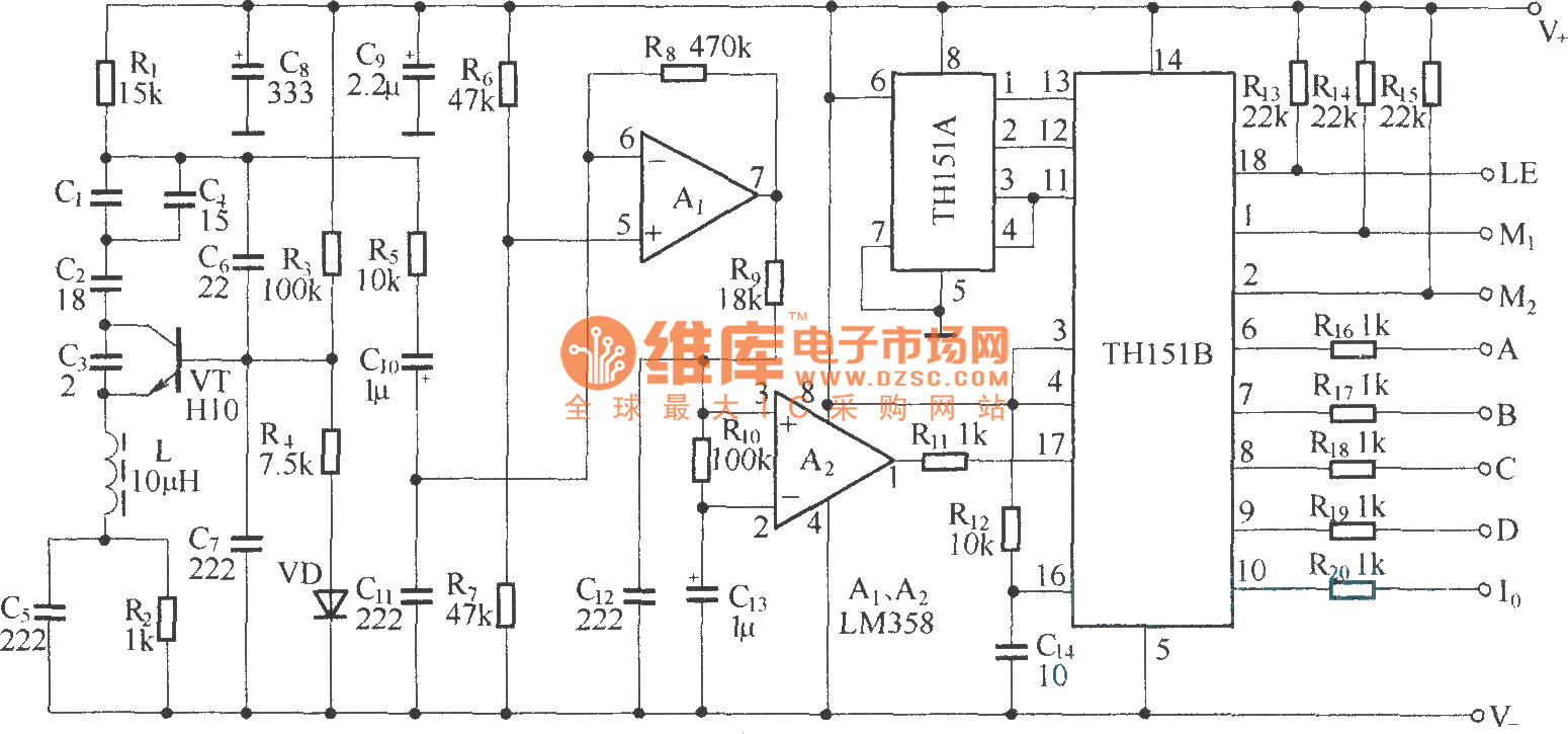 Rolling Radio Control Circuitth150 Th150a B Circuitdiagram Measuringandtestcircuit Dccapacitortestercircuit