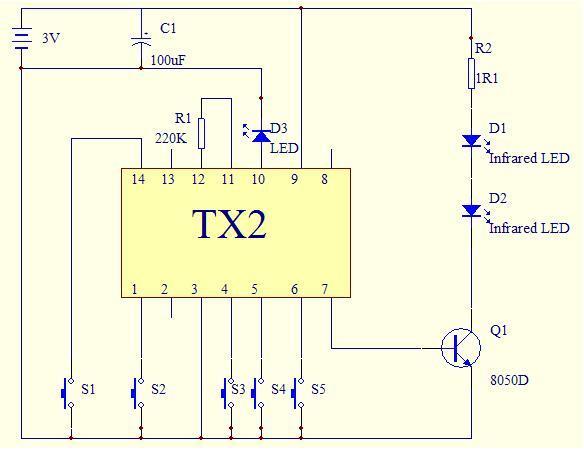 Infrared Remote Control Circuit Diagram Automotivecircuit