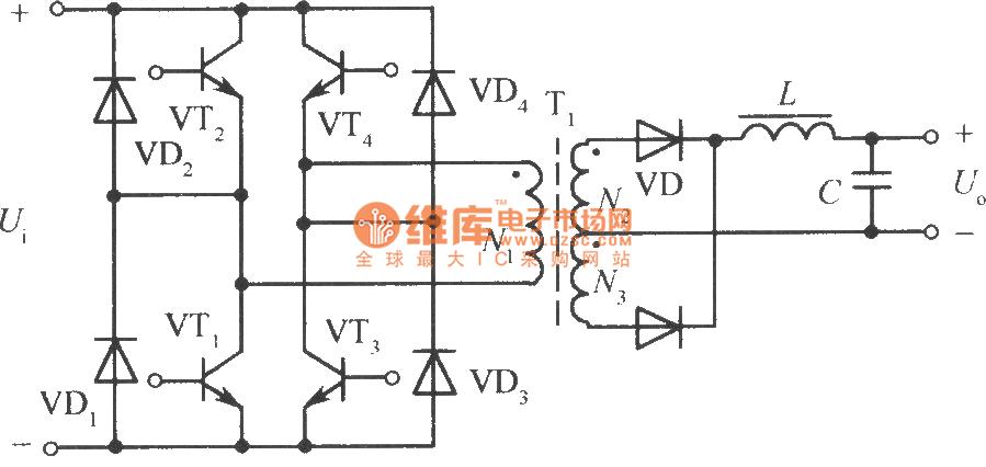 full bridge power inversion circuit - basic circuit - circuit diagram