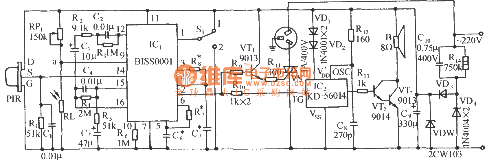 Using Biss0001 Infrared Sensor Automatic Nighttime Lighting Control Digitaltheremin Basiccircuit Circuit Diagram Seekiccom