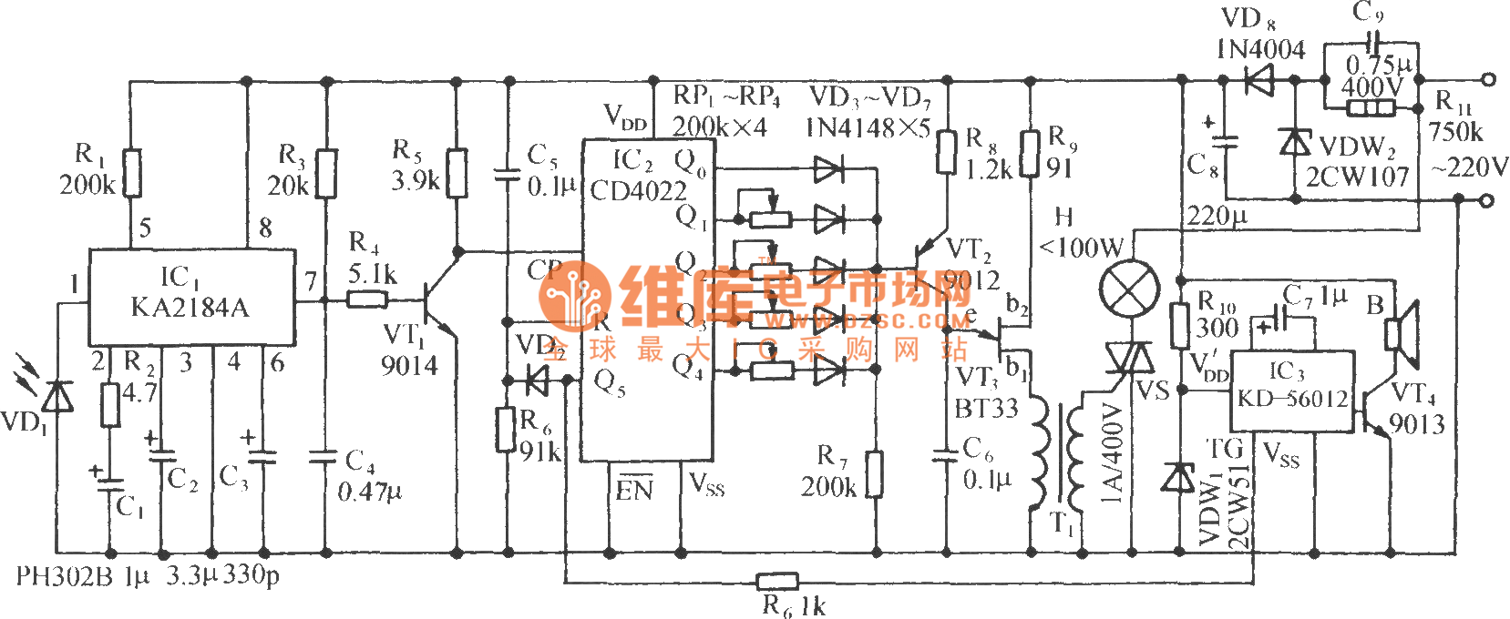 ir light dimmer circuit diagram for household schematic diagramir light dimmer circuit diagram for household box wiring diagramir remote control dimmer light switch circuit