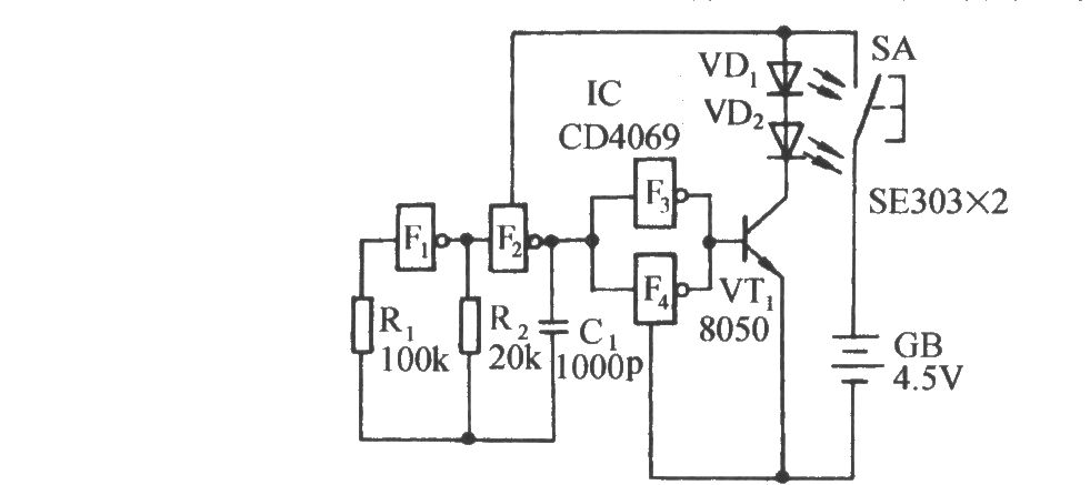 infrared remote control music switch circuit diagram