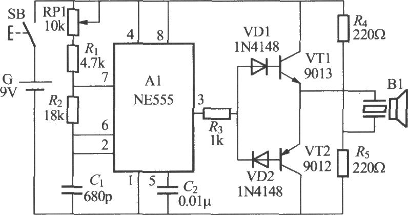ultrasonic remote control delay light receiver - control circuit - circuit diagram