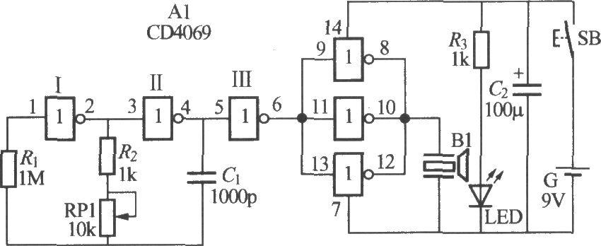 ultrasonic remote control dimming light receiver - control circuit - circuit diagram
