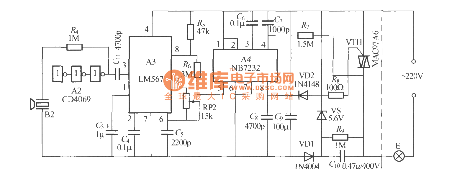 Ultrasonic Remote Control Dimming Light Receiver Circuit Basictriacswitches Controlcircuit Diagram Seekiccom