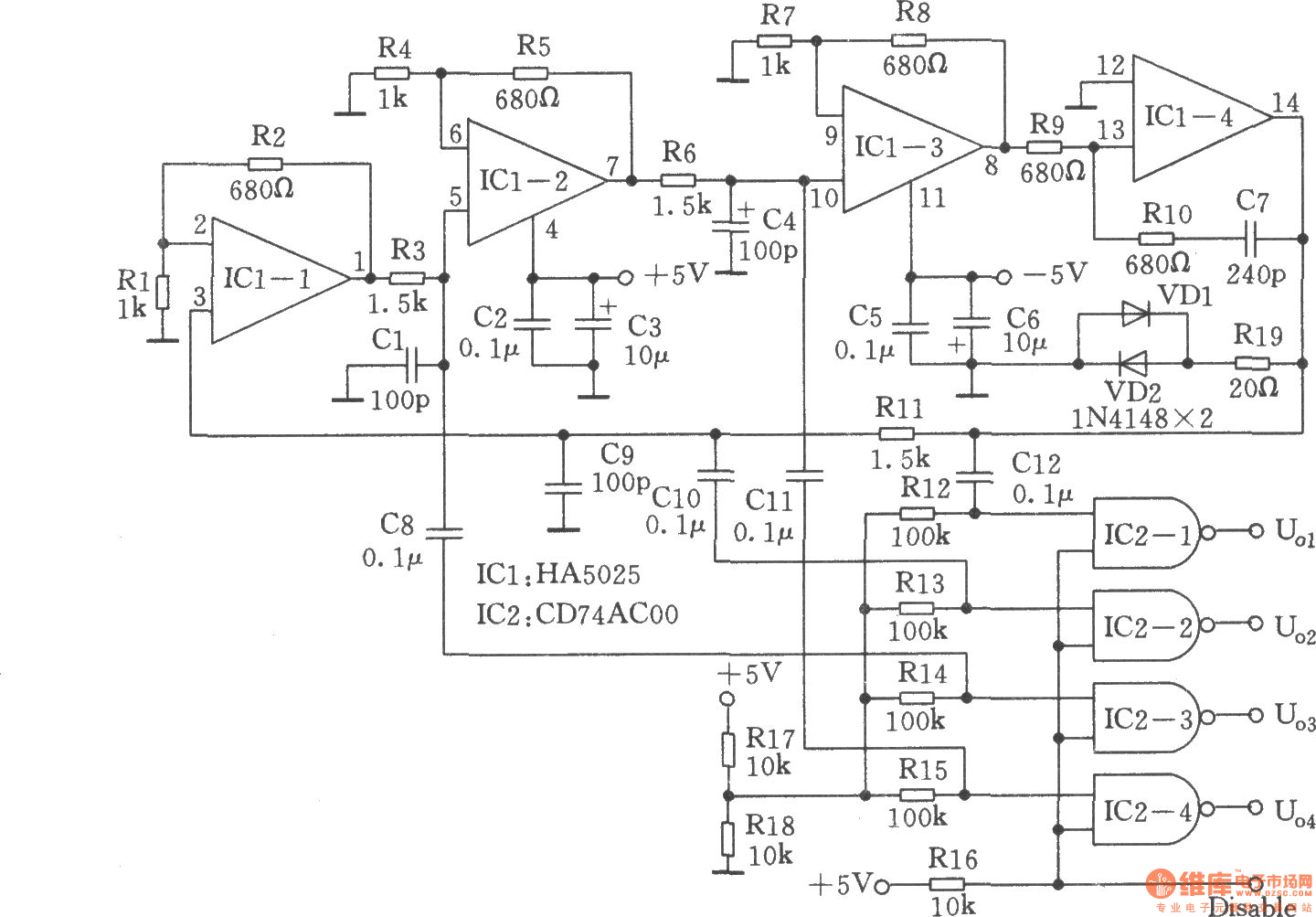 High Performance Quadrature Sine Wave Oscillator Generator Circuits Basiccircuit Circuit Diagram Seekiccom
