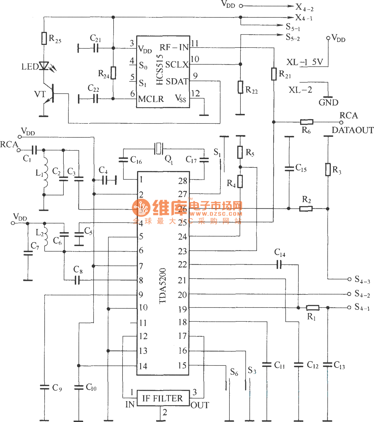 Heterodyne Remote Control Receiving Circuit Diagram Heartratemonitor Controlcircuit Seekic