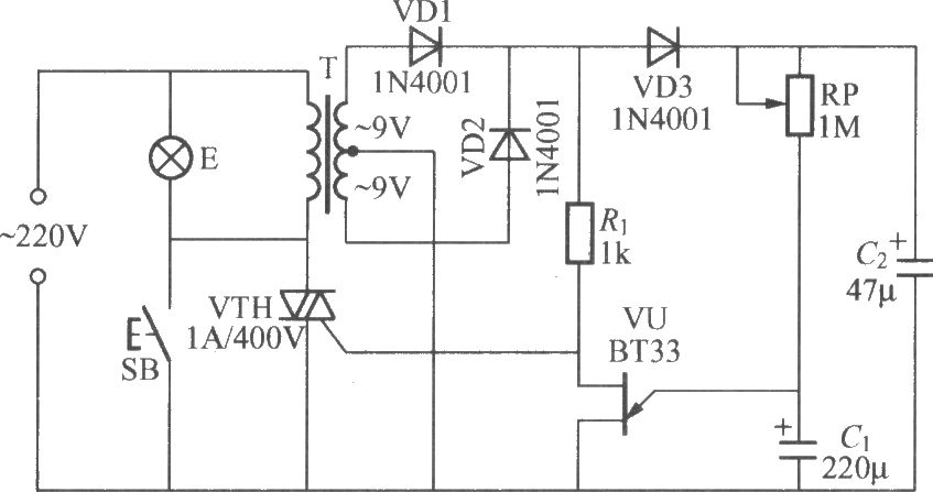 delay light circuit with triac 3