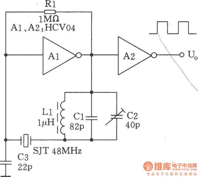48mhz hcmos oscillator - oscillator circuit