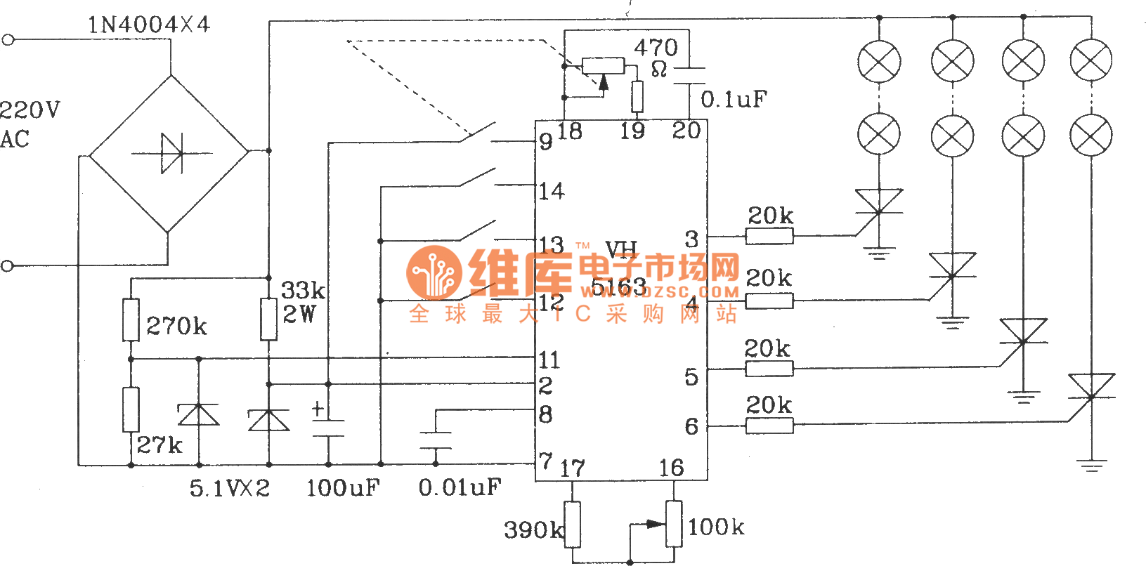 typical application circuit of vh5163 color lamp control integrated rh seekic com