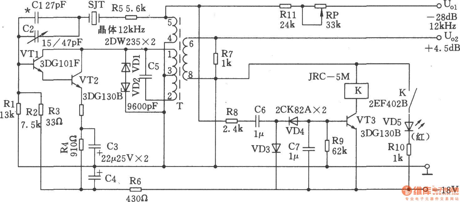 12khz intermediate frequency signal generator - signal processing - circuit diagram