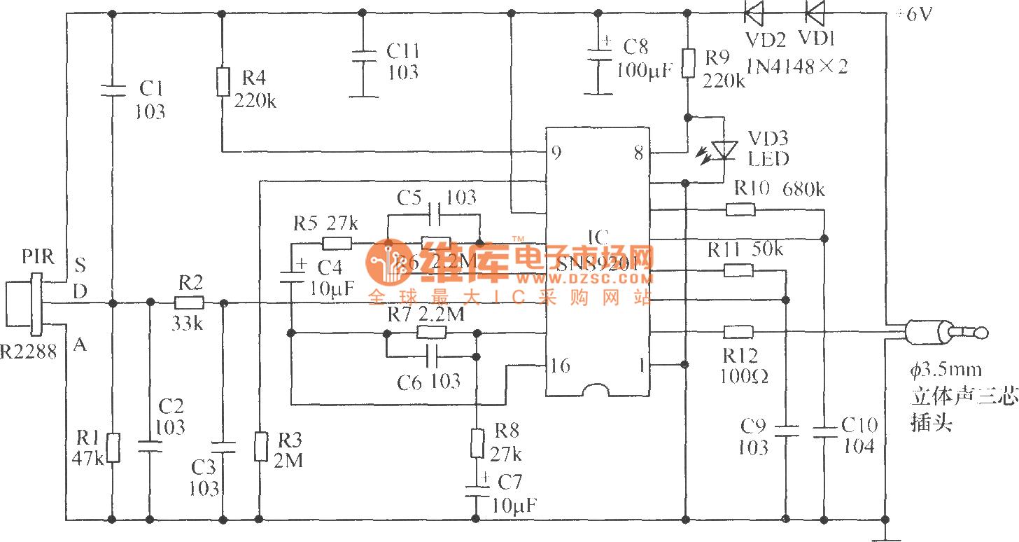 Electronic Dog Alarm Circuit Diagram Control