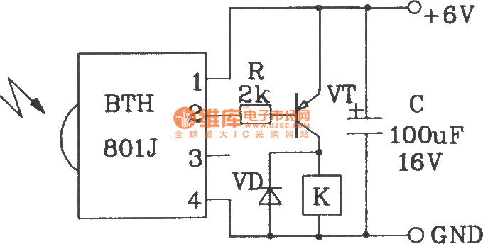 bth801f and bth801j infrared remote control transmitter and receiver module applications circuit