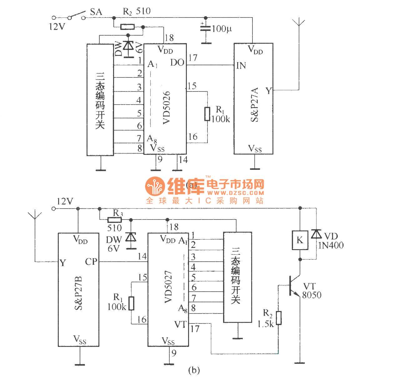 Composed Of Sp27asp278 Long Distance Remote Control Switch Heartratemonitor Controlcircuit Circuit Diagram Seekic
