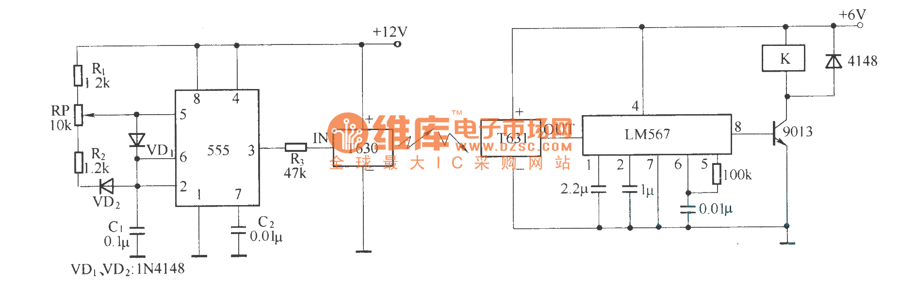 Composed Of T630 And T631 Wireless Mini Remote Control Circuit Diagram 1 Remotecontrolcircuit Seekic