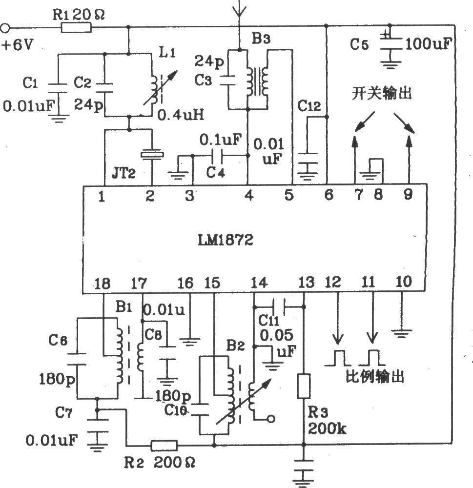 composed of lm1871 and 1872 typical remote control transmitter and receiver circuit diagram