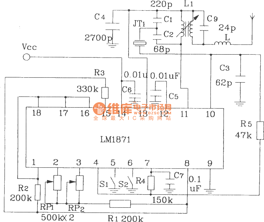 Composed Of Lm1871 And 1872 Typical Remote Control Transmitter Circuit Diagram Receiver
