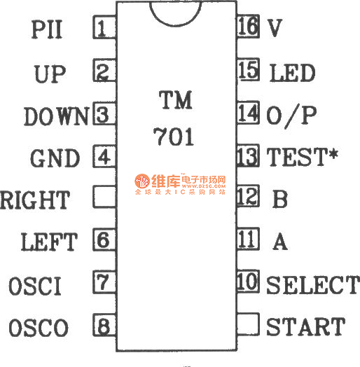 composed of tm701 and tm702 rf remote control transmitter and receiver circuit diagram