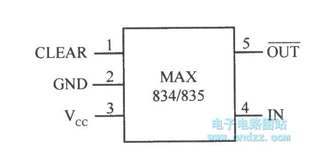 micro-power voltage detection integrated chip max834  835 with latched output