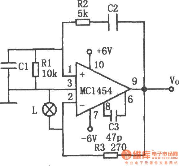 low power wien bridge oscillator composed of mc1454 - oscillator circuit
