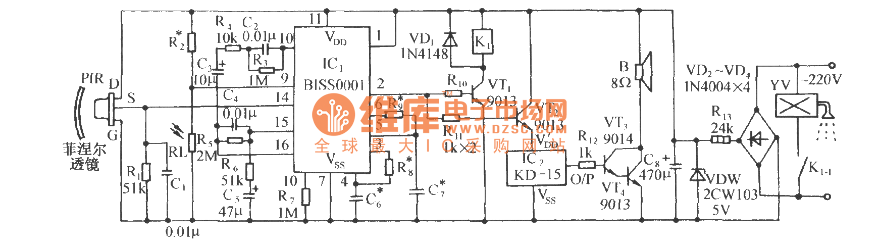 Infrared Sensor Automatic Sprinkler Control Circuit Diagram Using Basictriacswitches Controlcircuit Seekiccom Biss0001