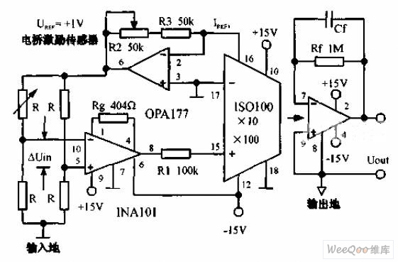 precise bridge isolation amplifier circuit - automotive circuit - circuit diagram