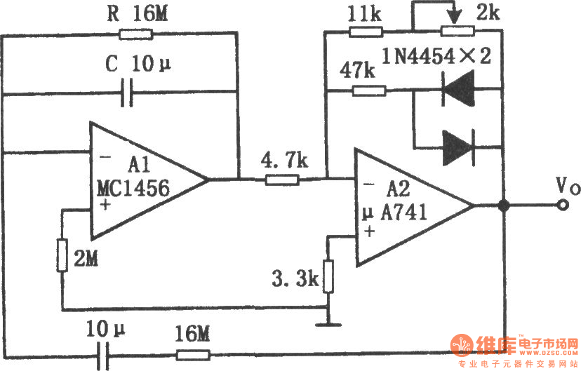 Circuit Of Sine Wave Oscillator With Ajustable Frequency And Constant
