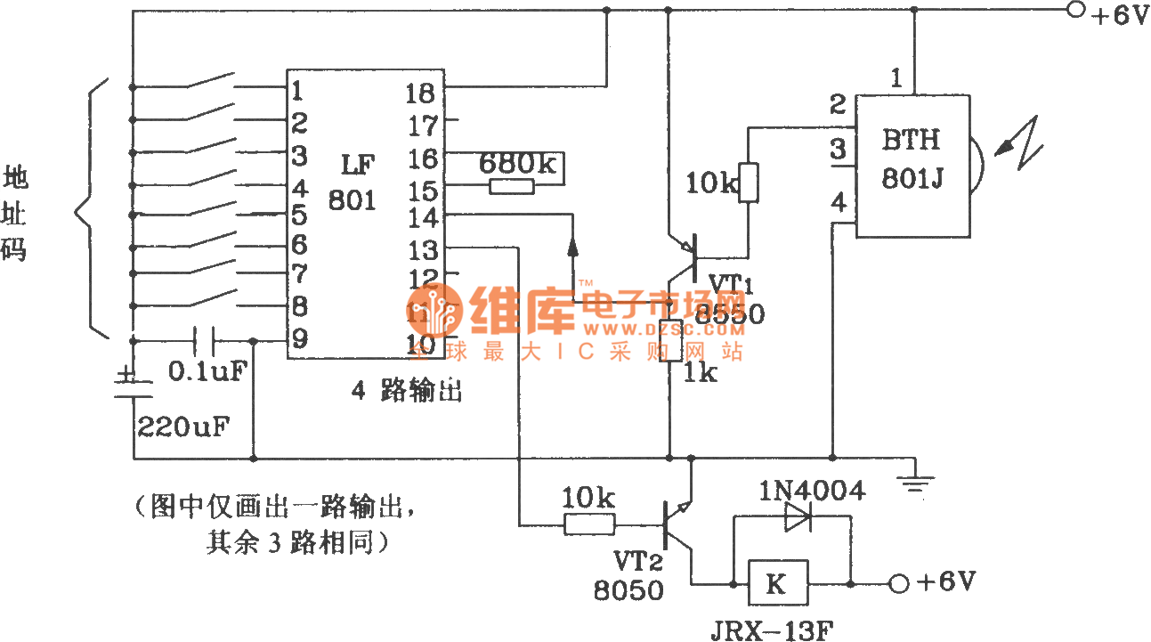 Transmitter And Receiver Circuit Composed Of Bth 801f 801j Infrared Block Diagram Remote Control